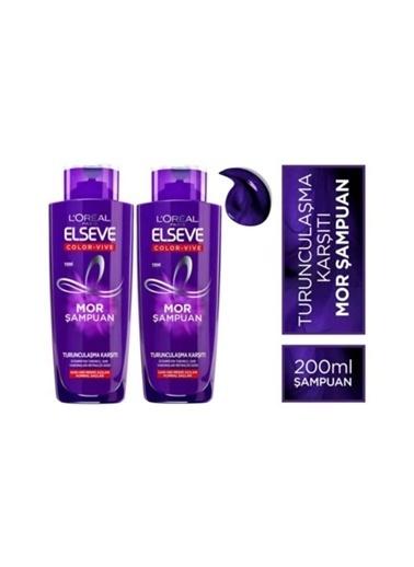 Elseve  Mor Şampuan 200 Ml X 2 Adet Renkli